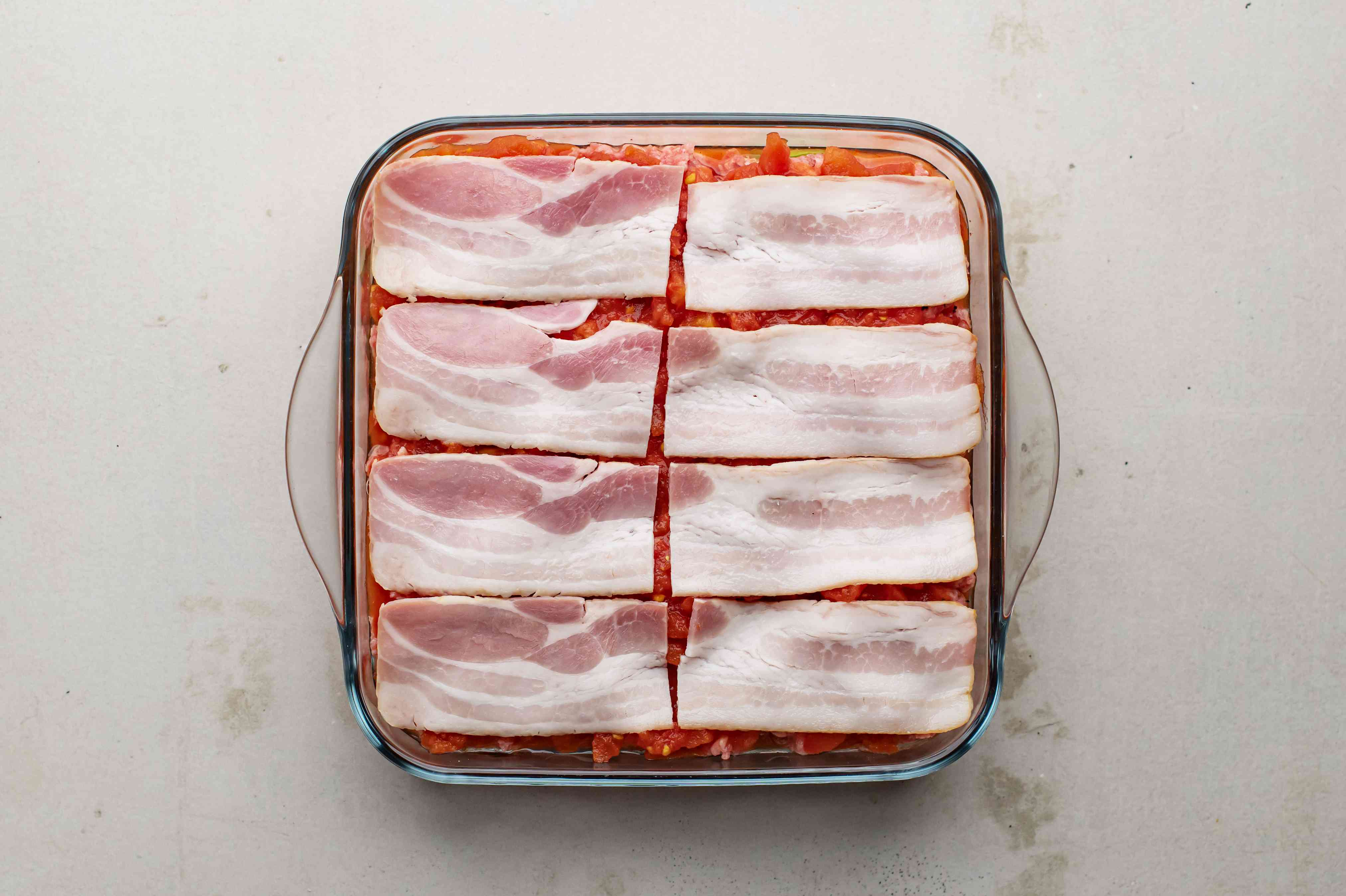 Top with strips of bacon