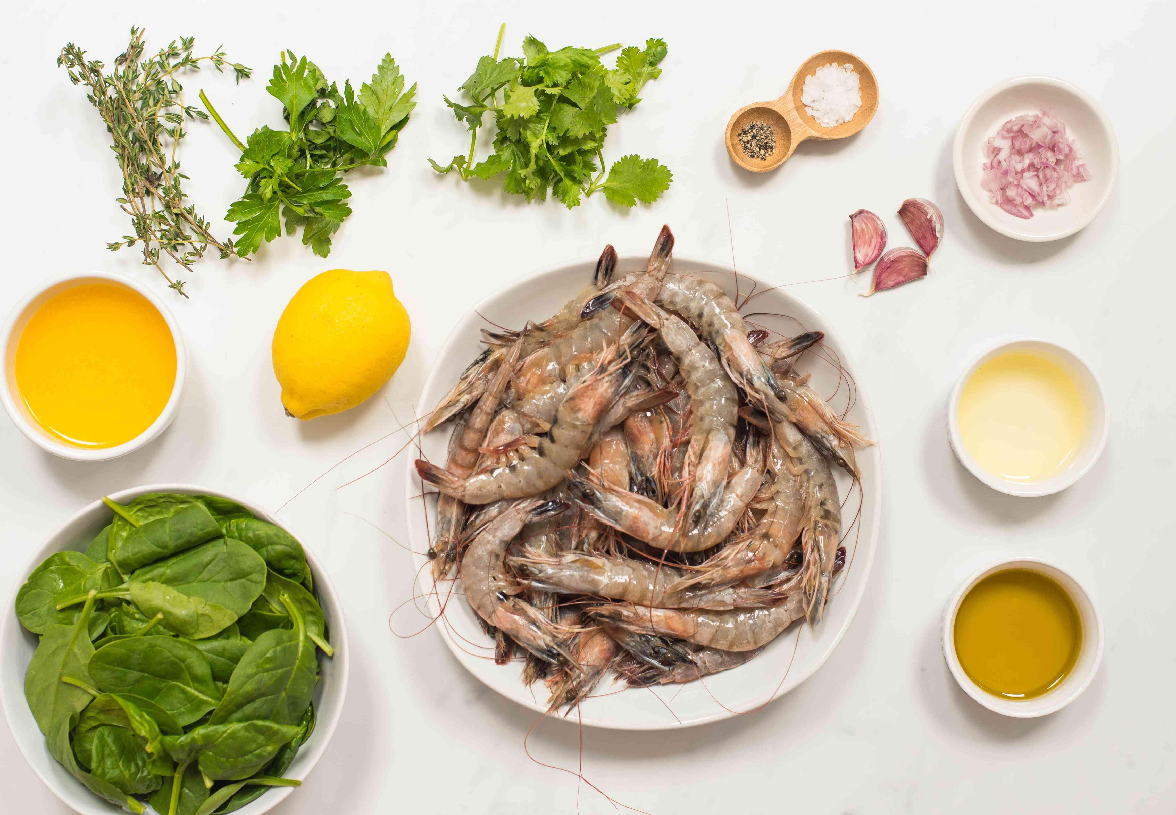 Ingredients for Australian shrimp on the barbie