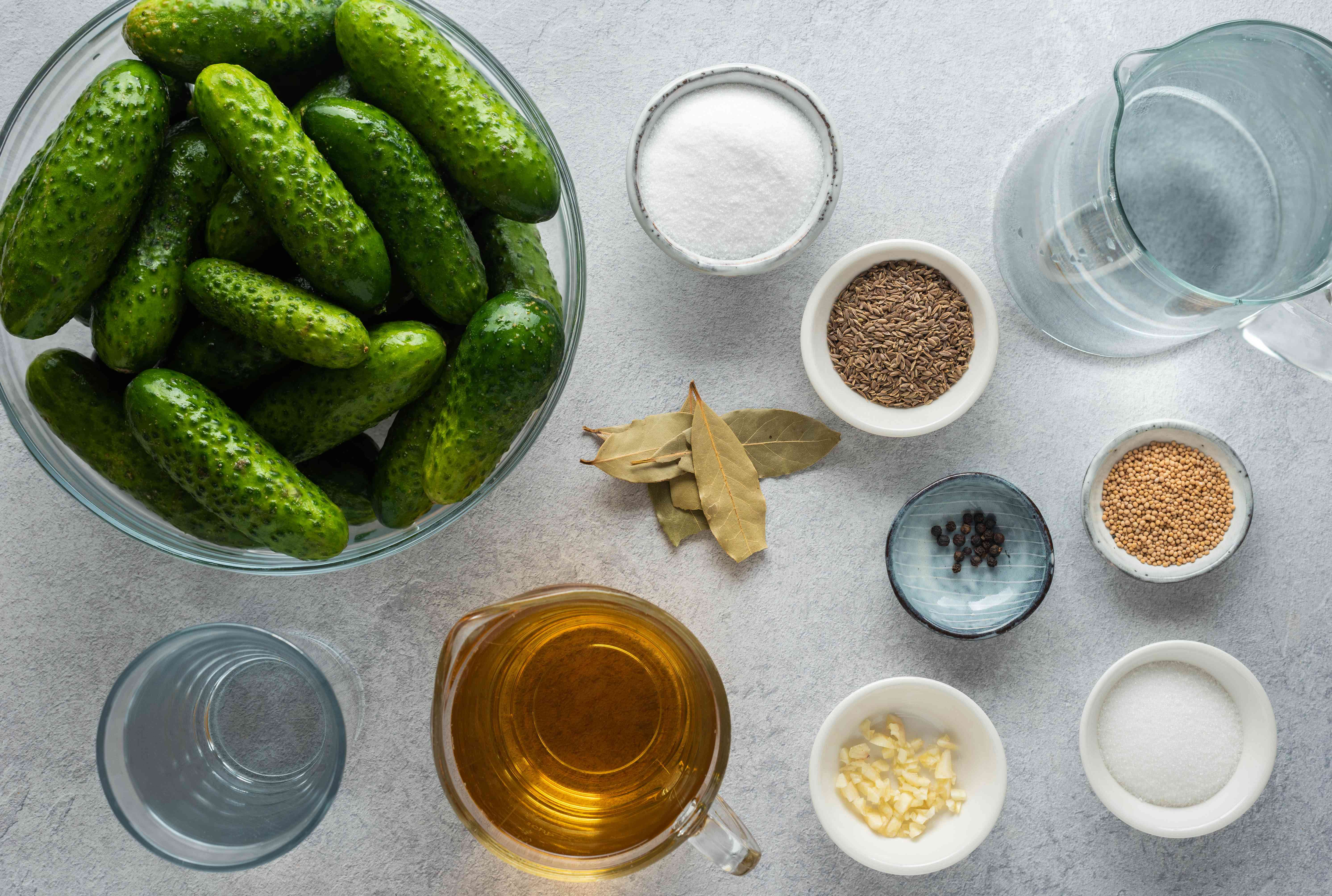 Canned Homemade Dill Pickle Slices ingredients