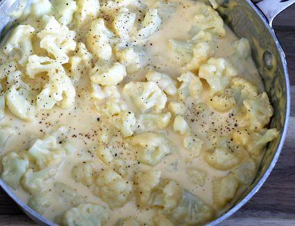 Creamed cauliflower