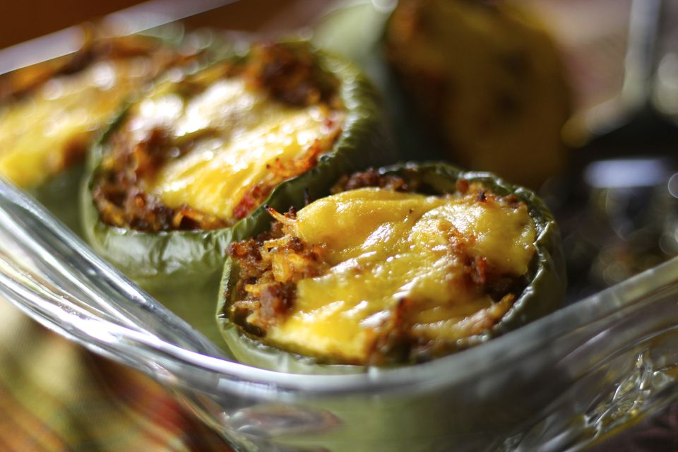 Gluten Free Stuffed Green Pepper