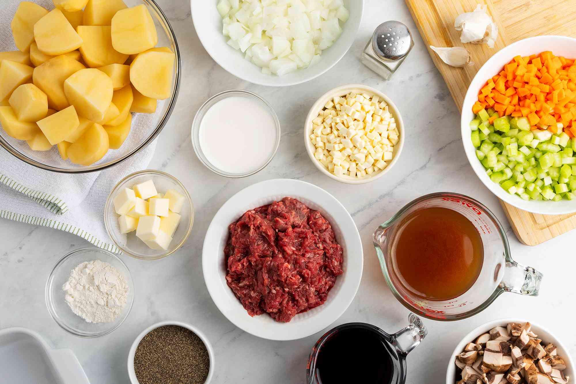 Venison Shepherd's Pie ingredients