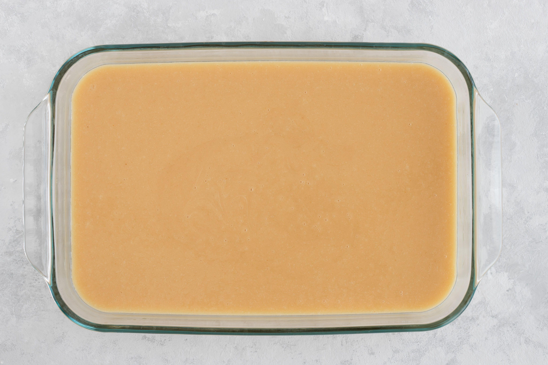 Stir in baking pan