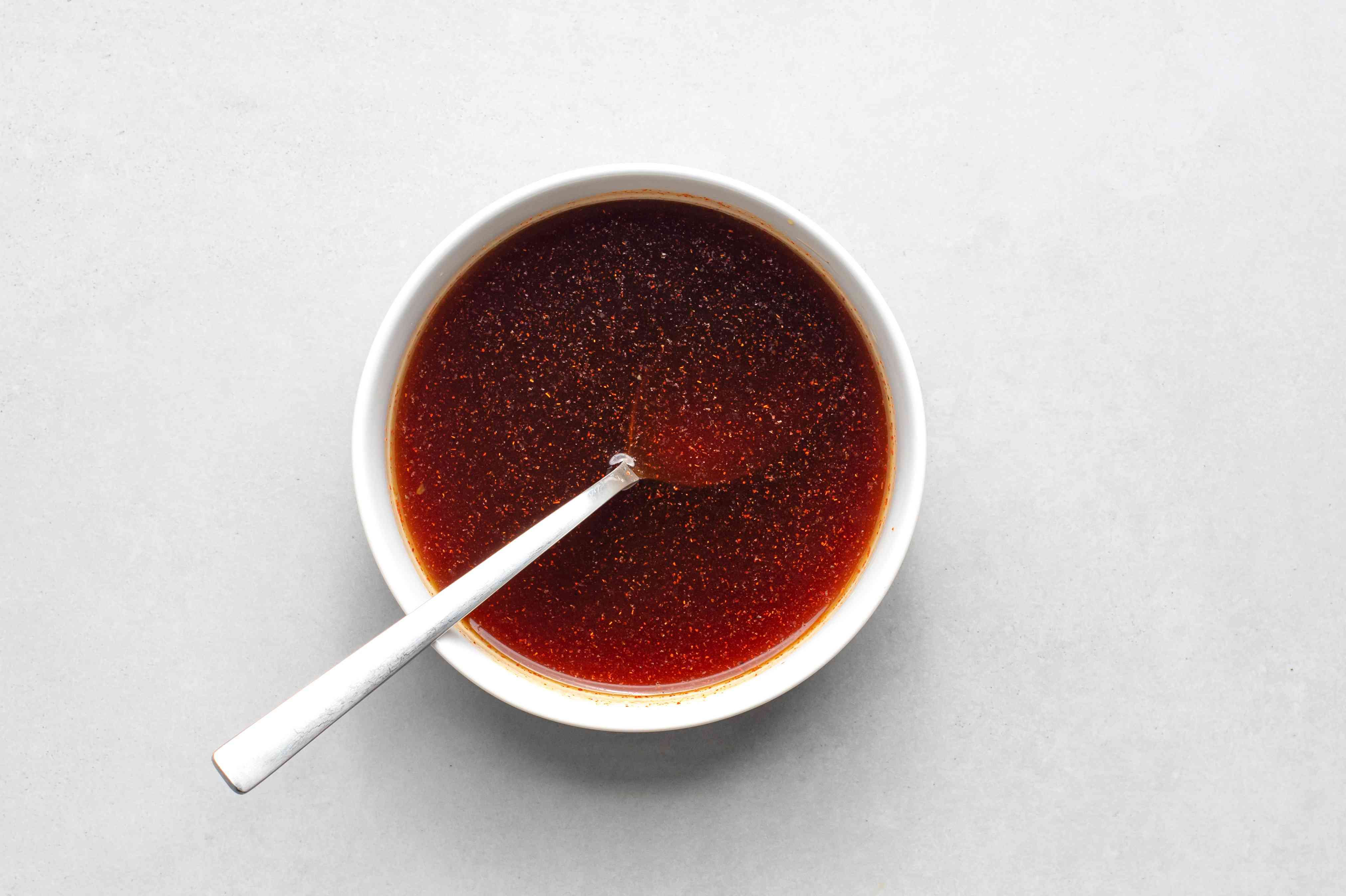 sauce in a bowl