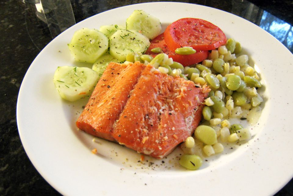 Salmon al horno con glaseado de miel y cítricos