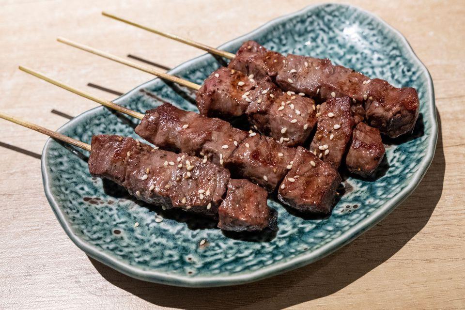 Grilled Beef Yakitori