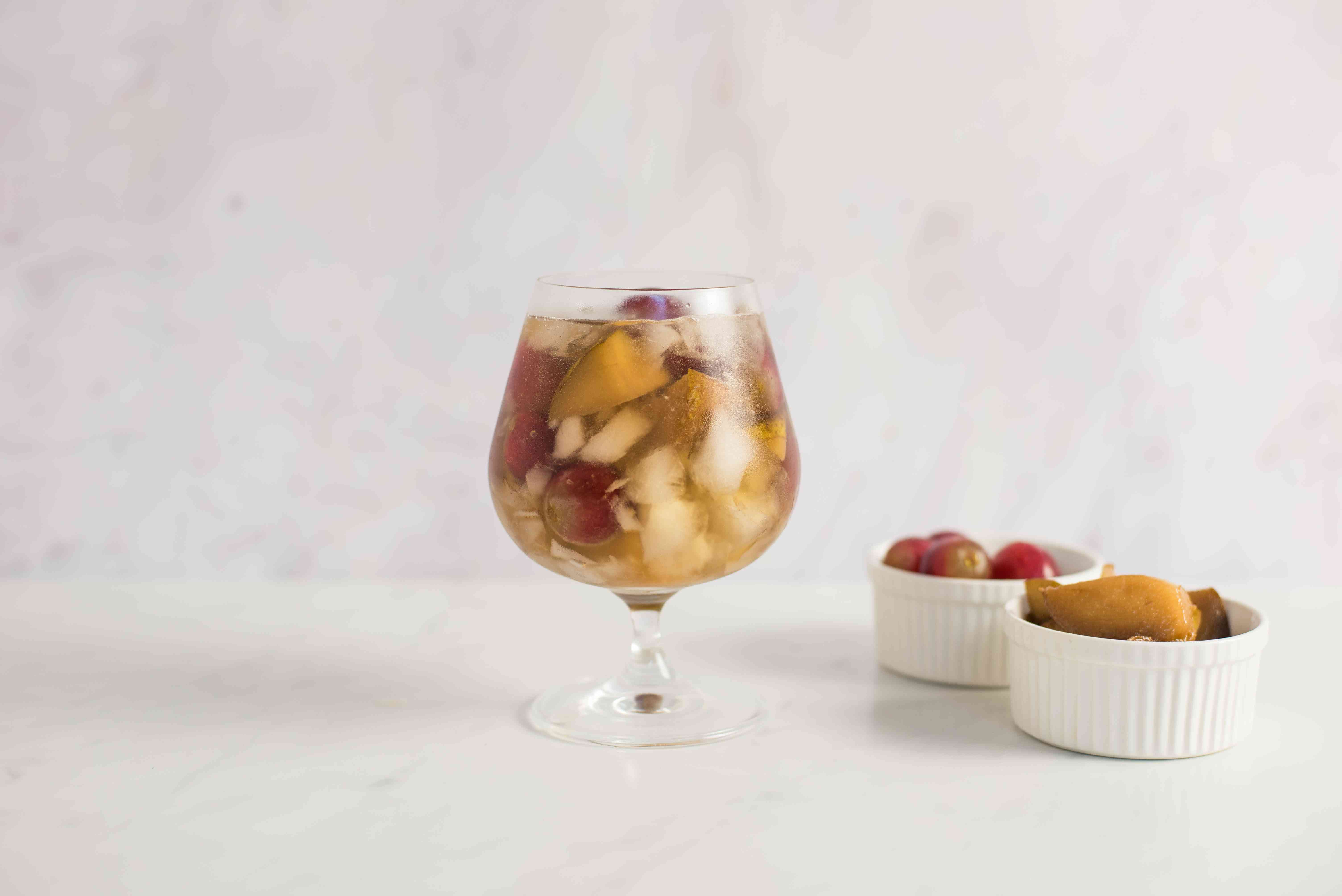 Top with drunken pear pieces