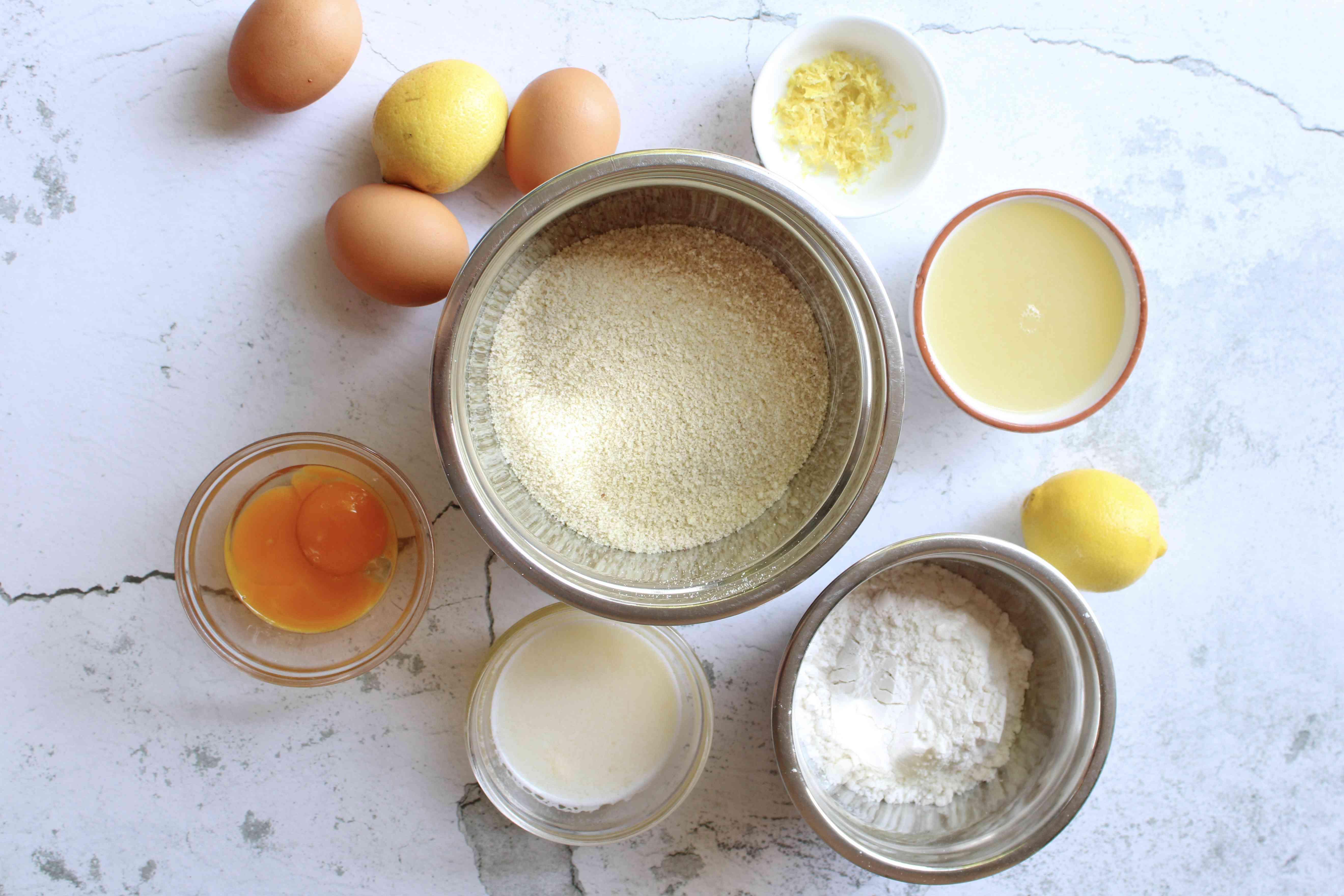 Ingredients for Keto Lemon Bars