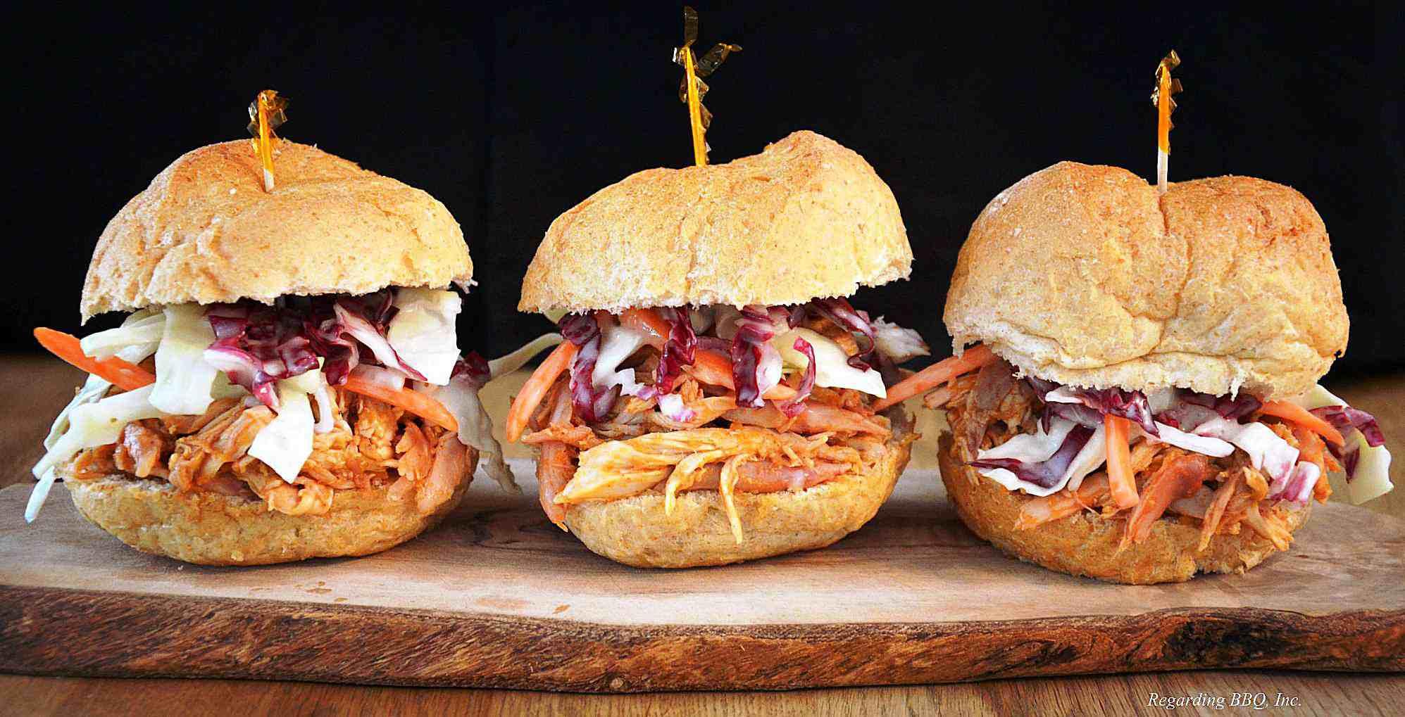 Pulled Chicken BBQ Sandwiches