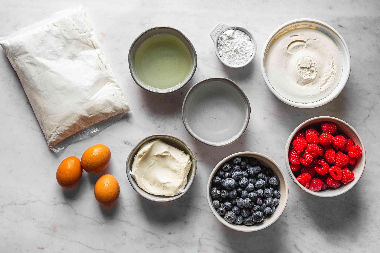 American Flag Cake ingredients
