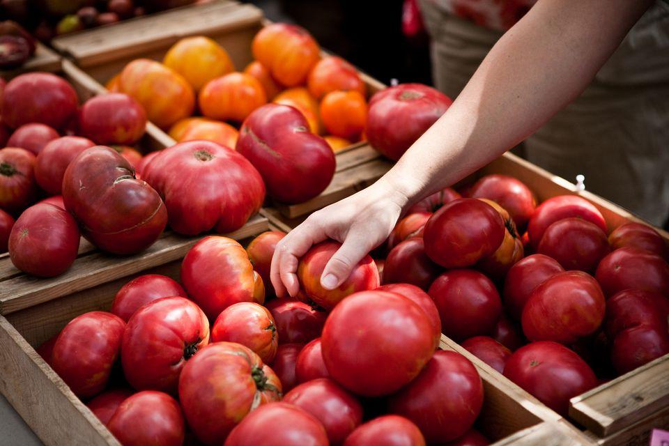 Fresh Tomatoes at Market