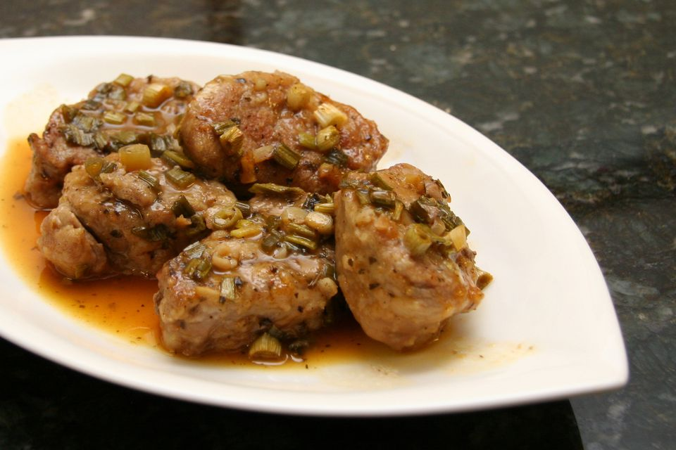 Orange and Garlic Pork Tenderloin Medallions