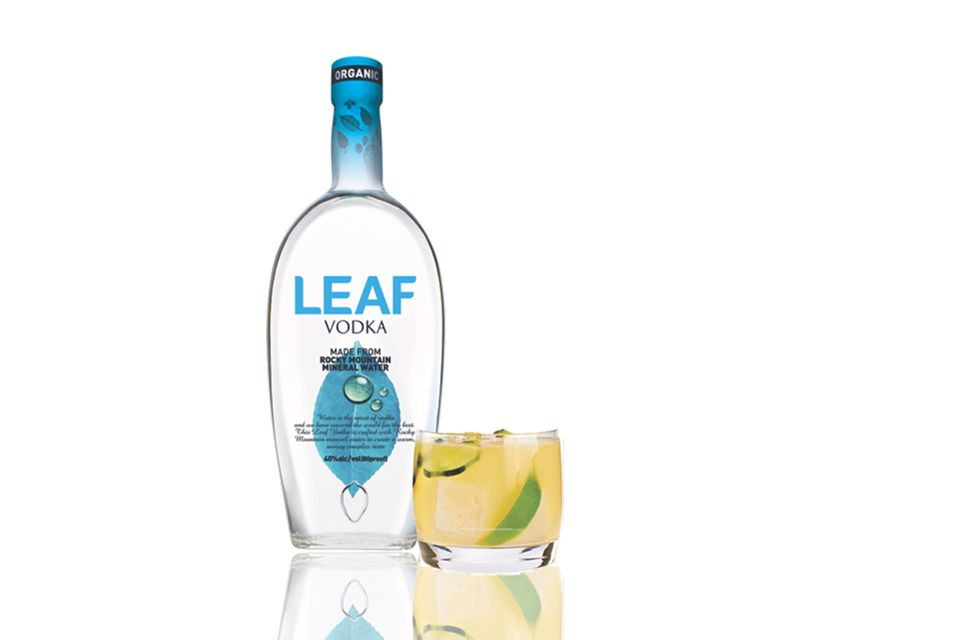 Leaf Vodka Made from Rocky Mountain Mineral Water and the Rocky Cucumber Cocktail
