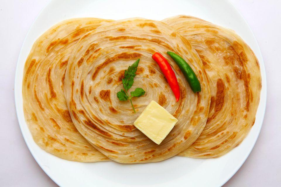 Lachcha Paratha (Pan indio en capas)