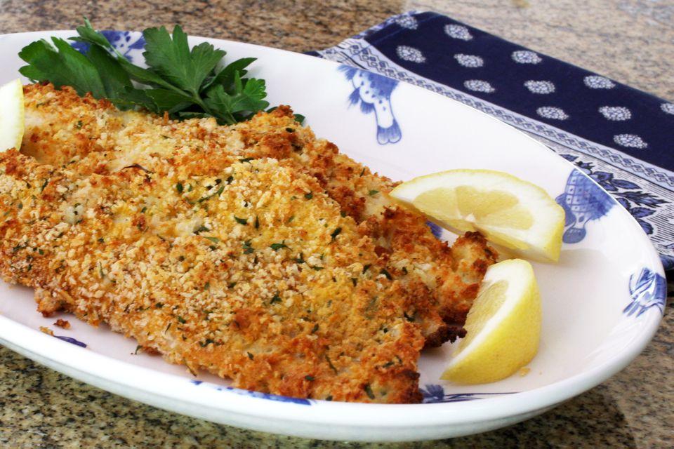 panko crusted baked haddock