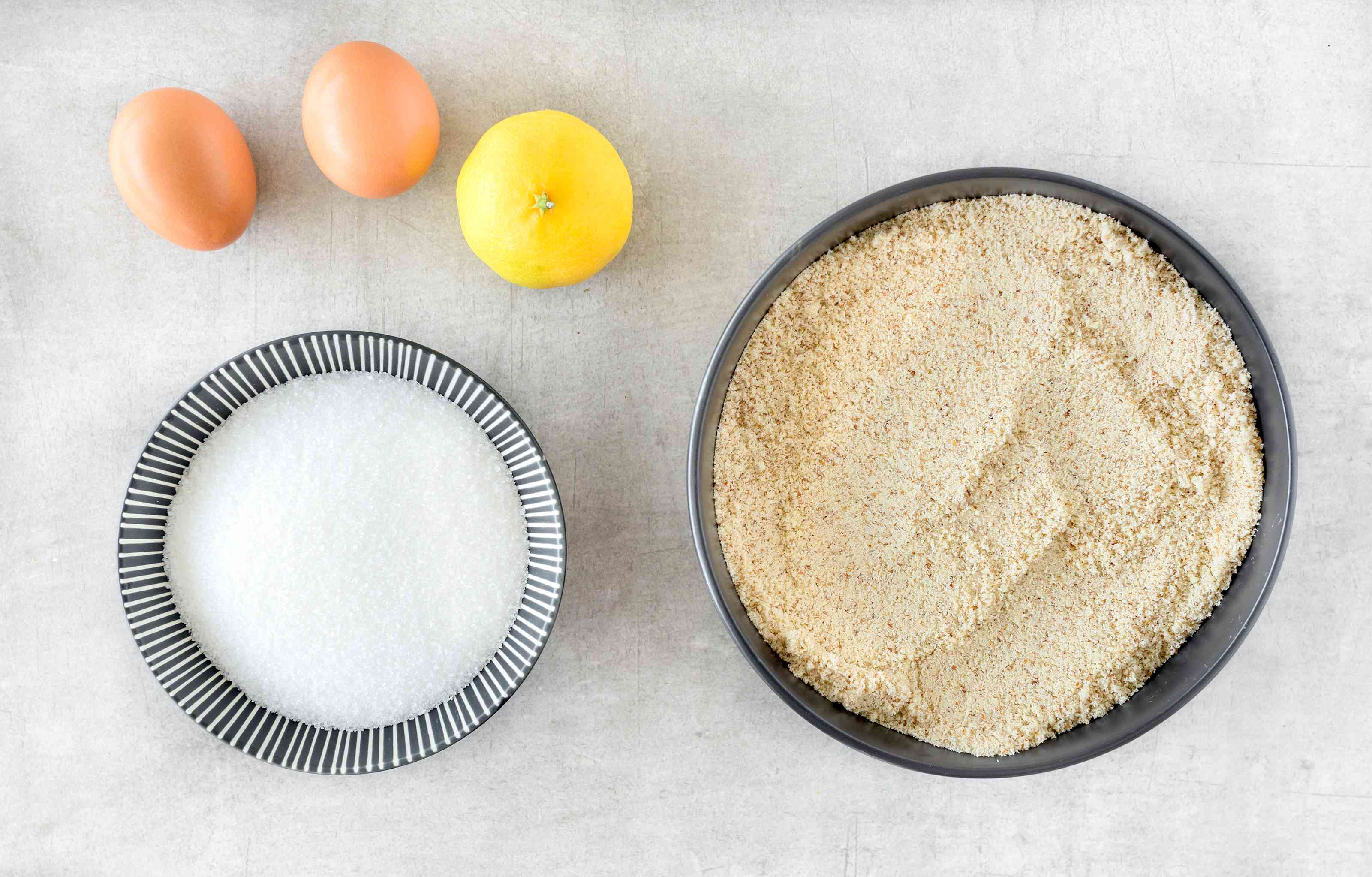 Ingredients for Spanish almond cookies