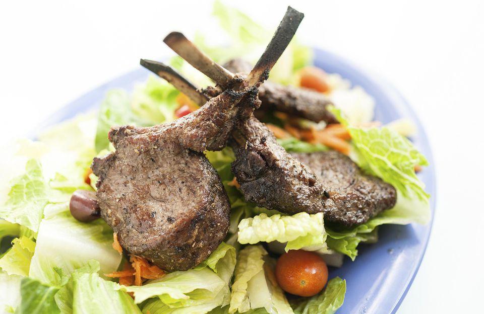 Dijon mustard lamb chops