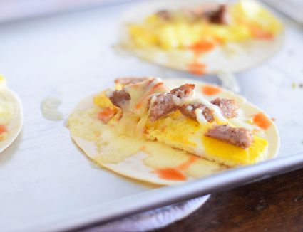 Easy Sausage Egg And Cheese Breakfast Burritos