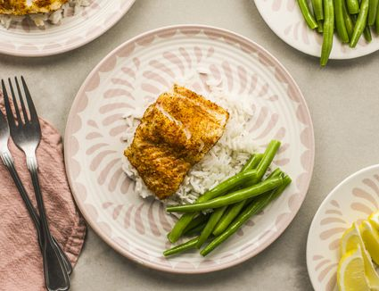 Low fat spice rubbed cod