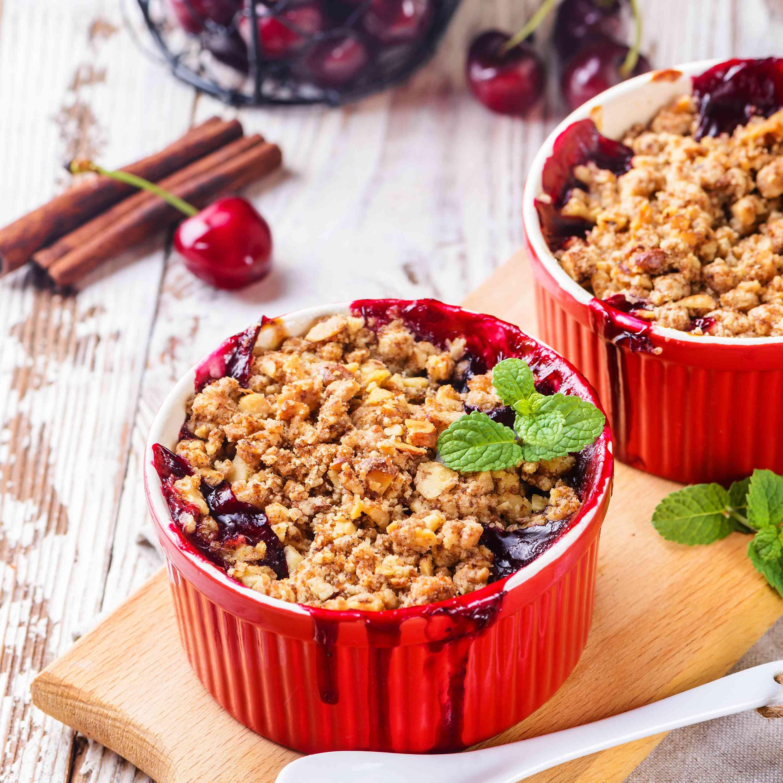 Single-Serve Fresh Cherry Crumbles