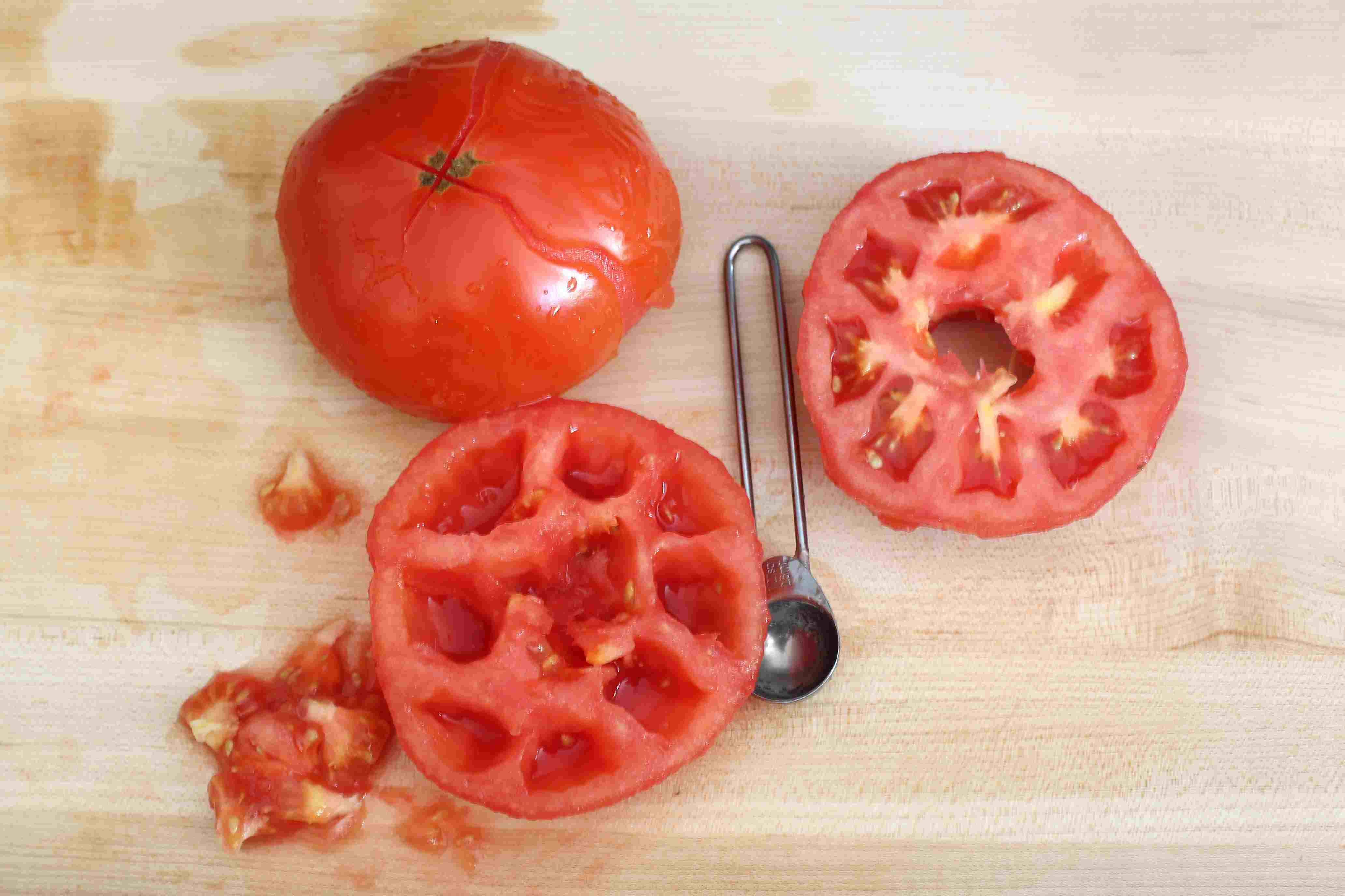 Tomatoes and scooper