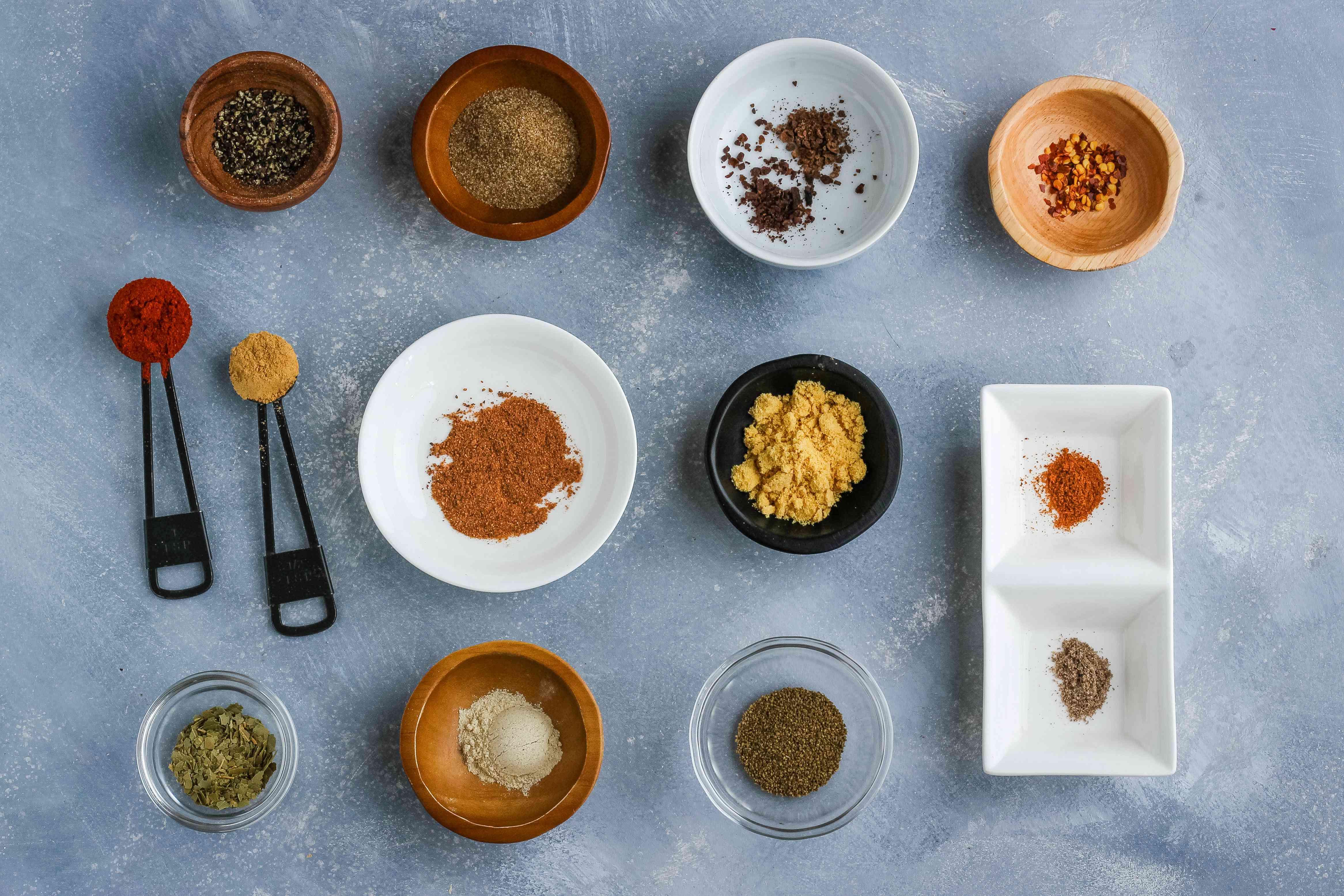 Ingredients for Old Bay-style seasoning