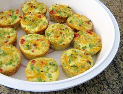 Broccoli Mini Quiches, Crustless