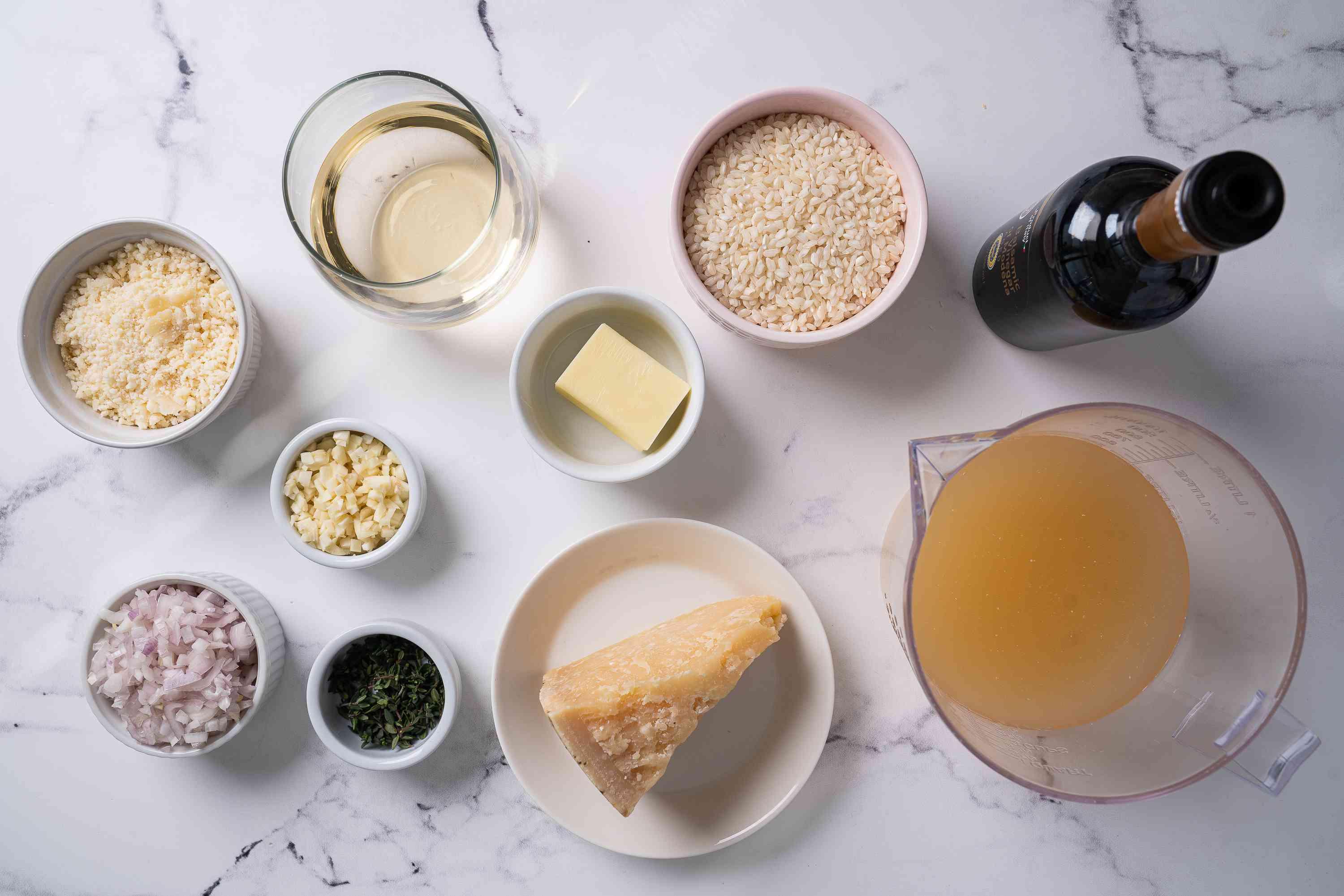 Instant Pot Risotto ingredients