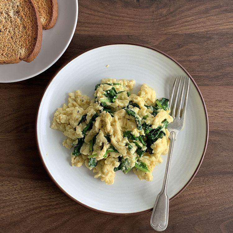 Healthy Spinach Scrambled Eggs Tester Image
