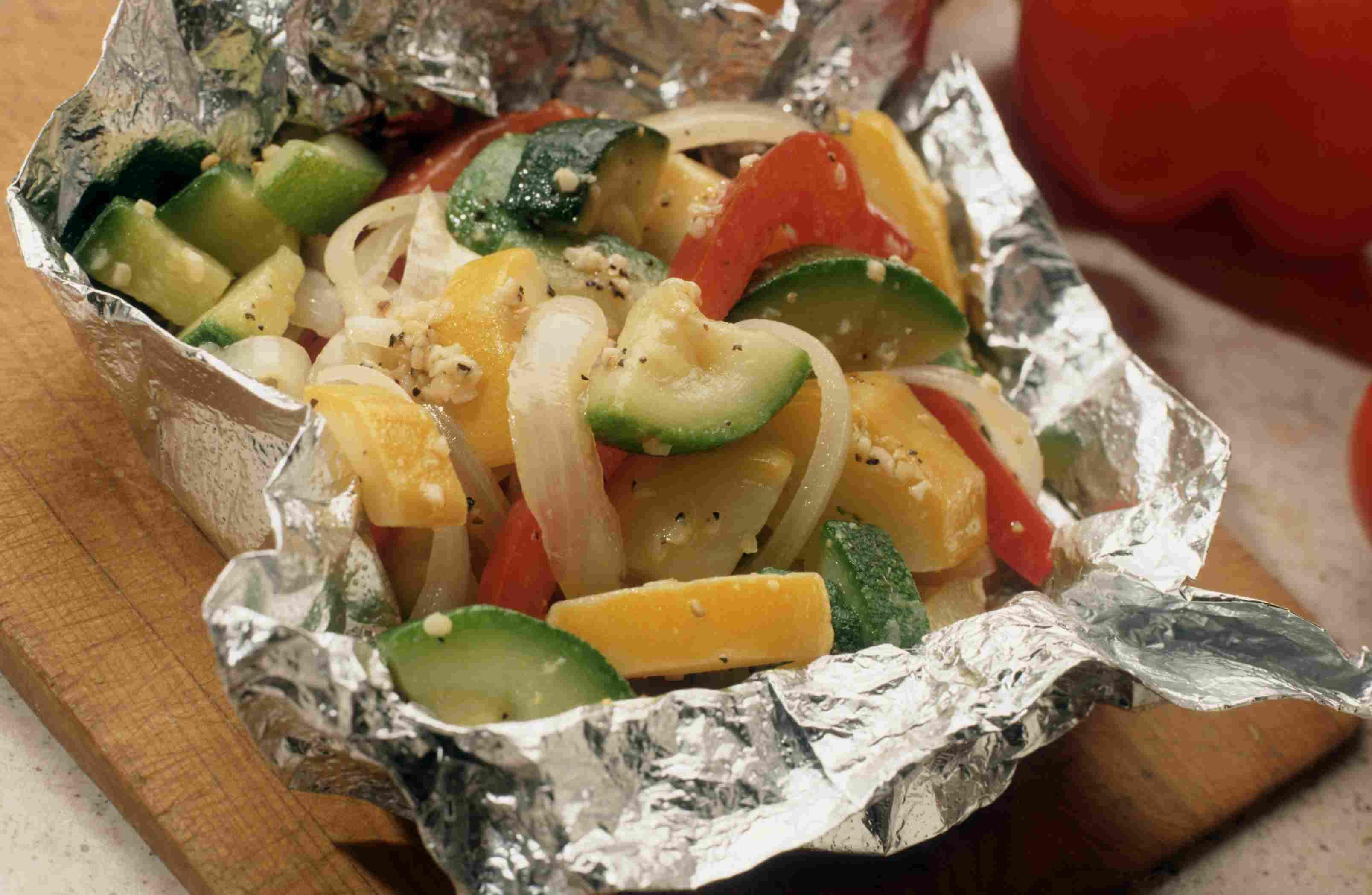 Grilled vegetable foil packets
