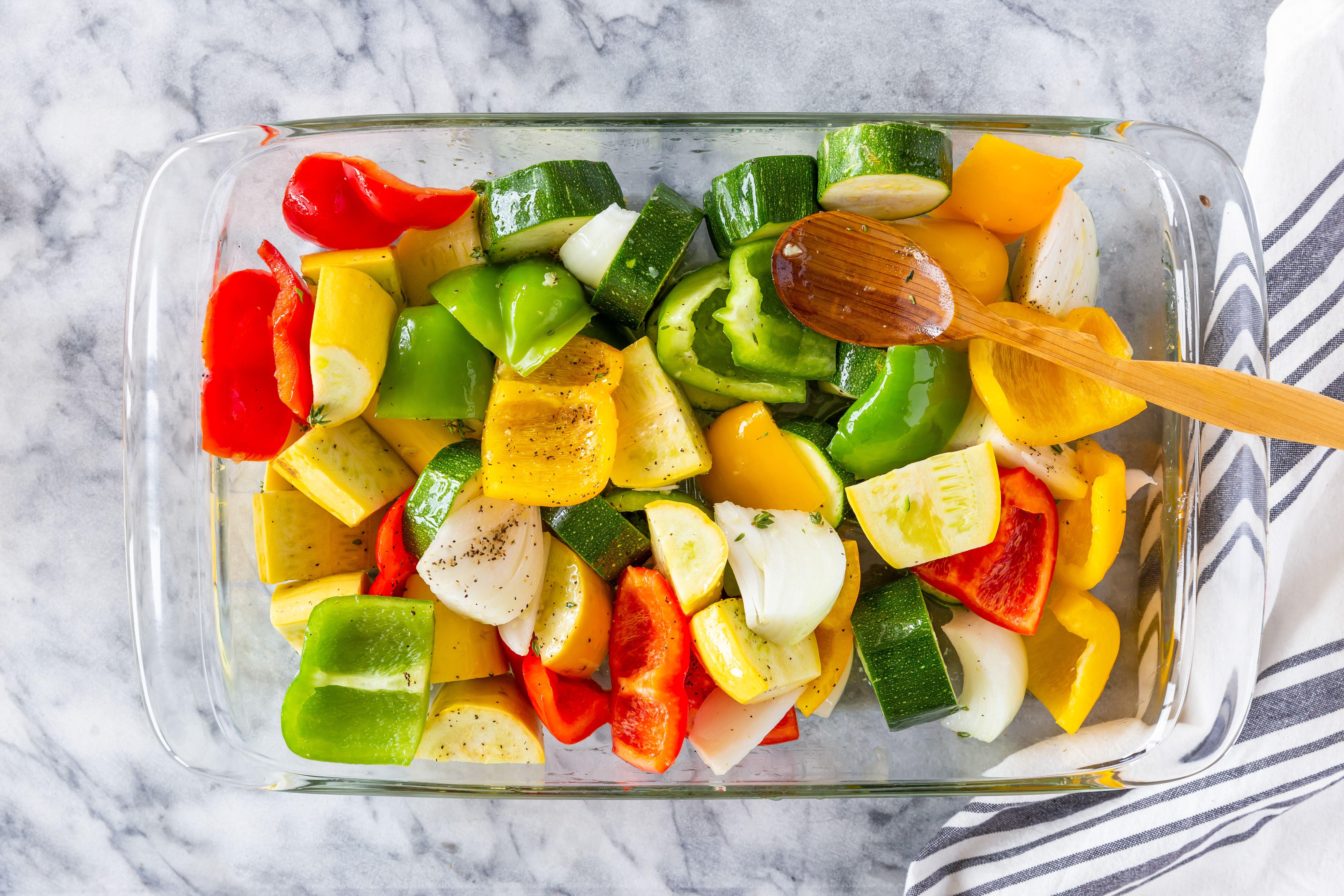 Vegetables in baking dish