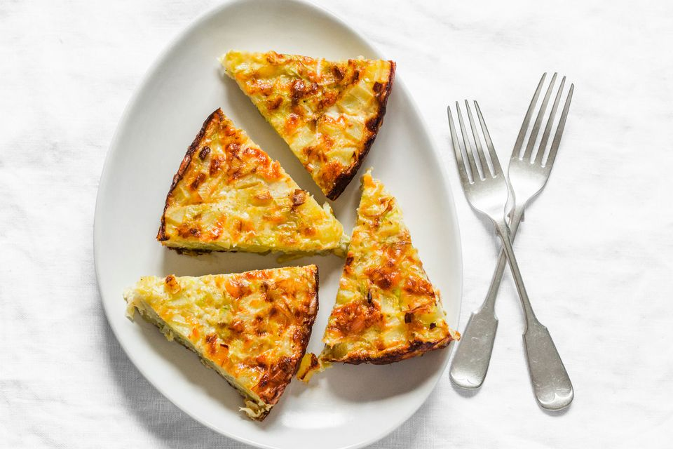Vegetarian Frittata with potatoes and onions