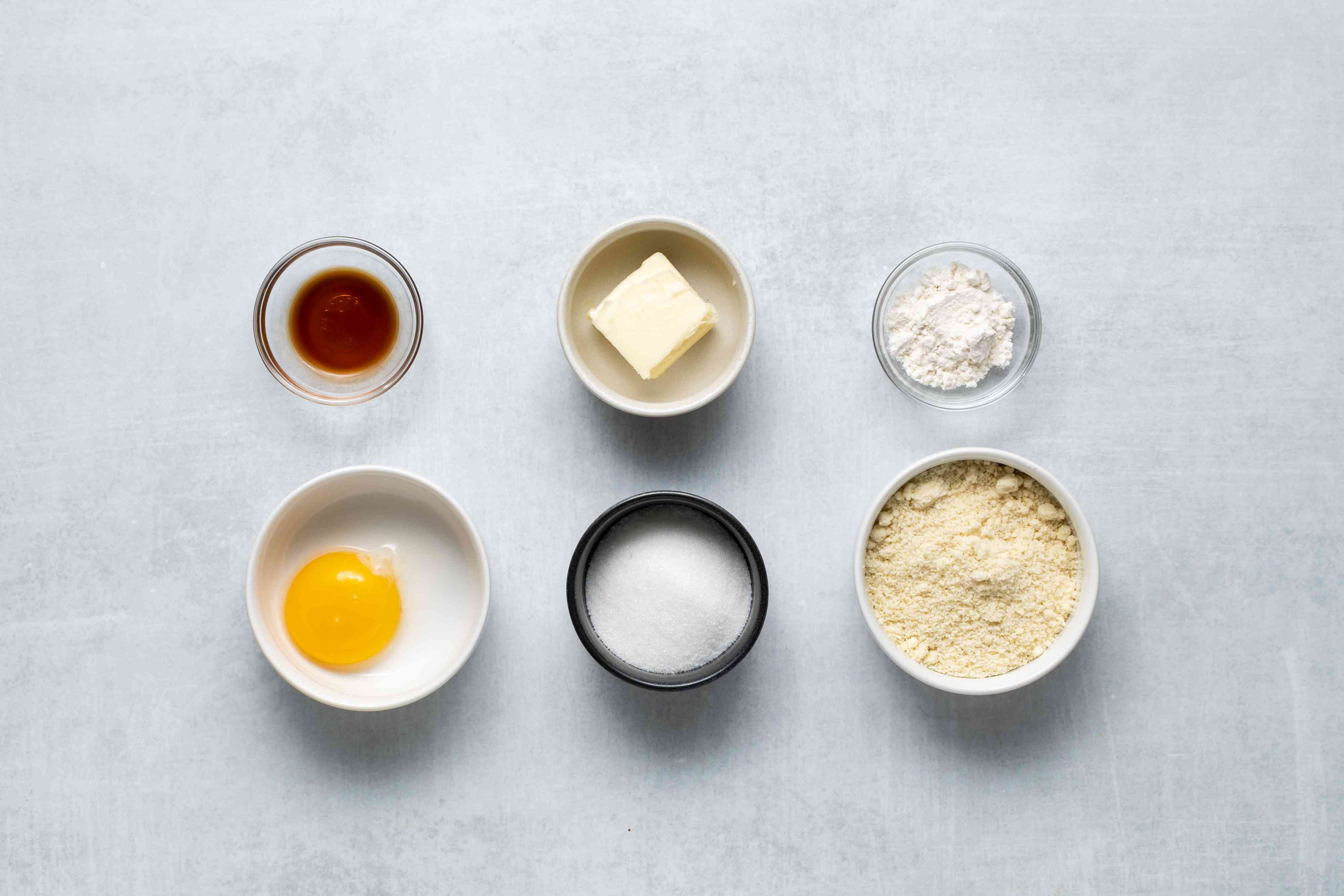 ingredients for the frangipane