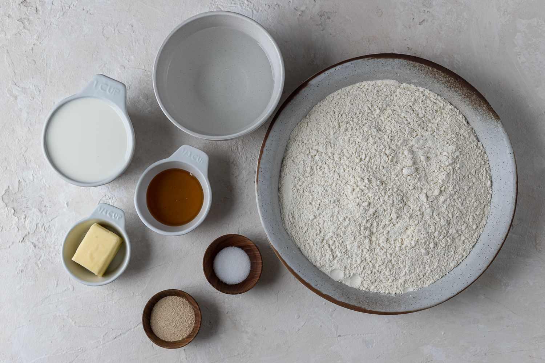 Easy Honey White Bread ingredients