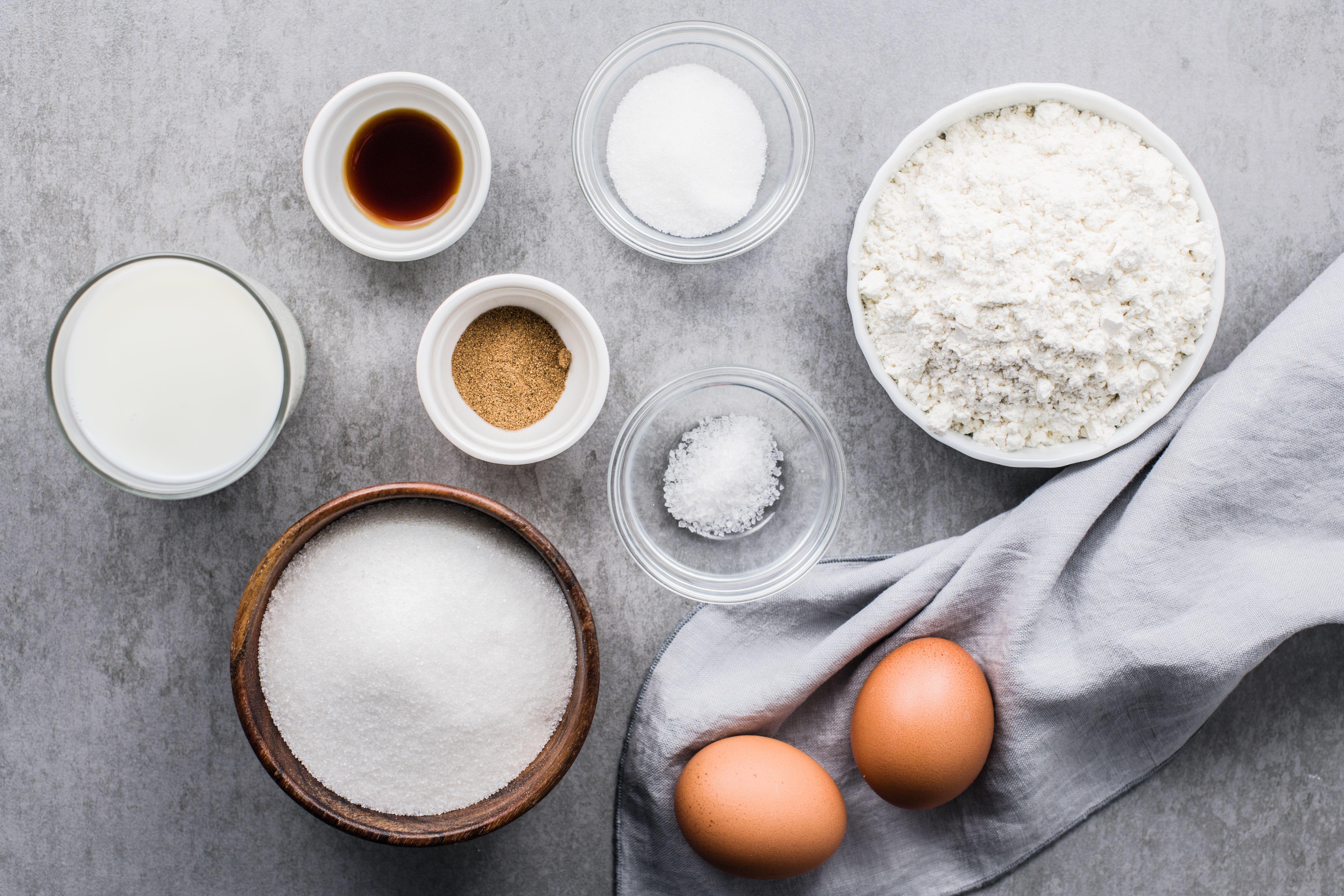 Rosettes Cookies Recipe ingredients