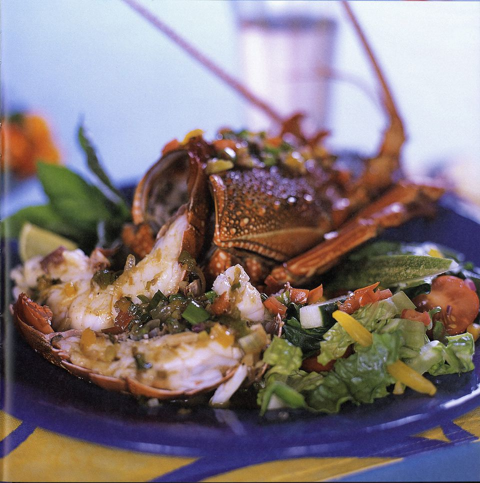 Caribbean Lobster with Rum-Jerk Butter Recipe - Cooking with Rum