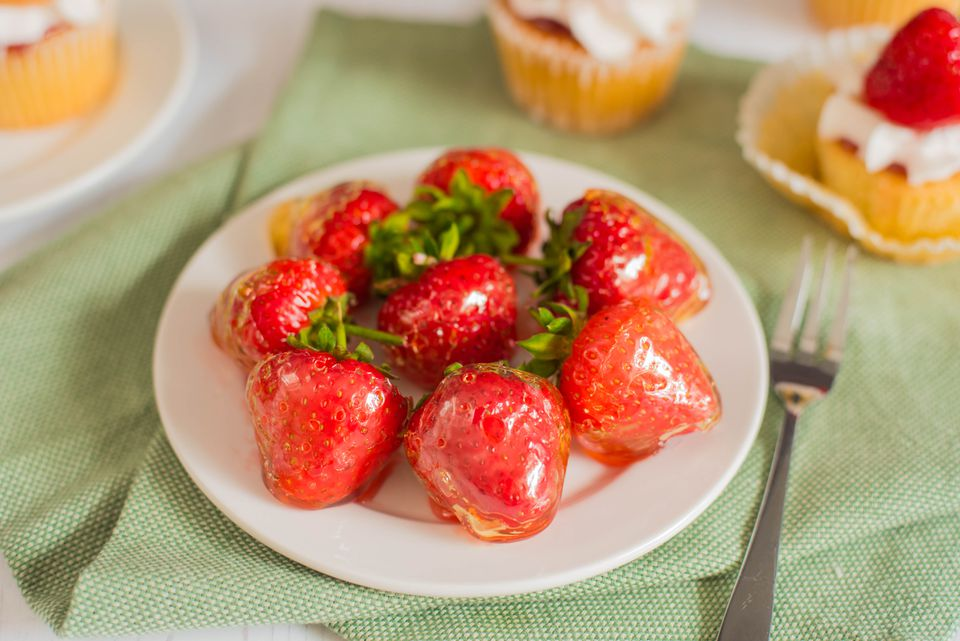Glazed strawberries