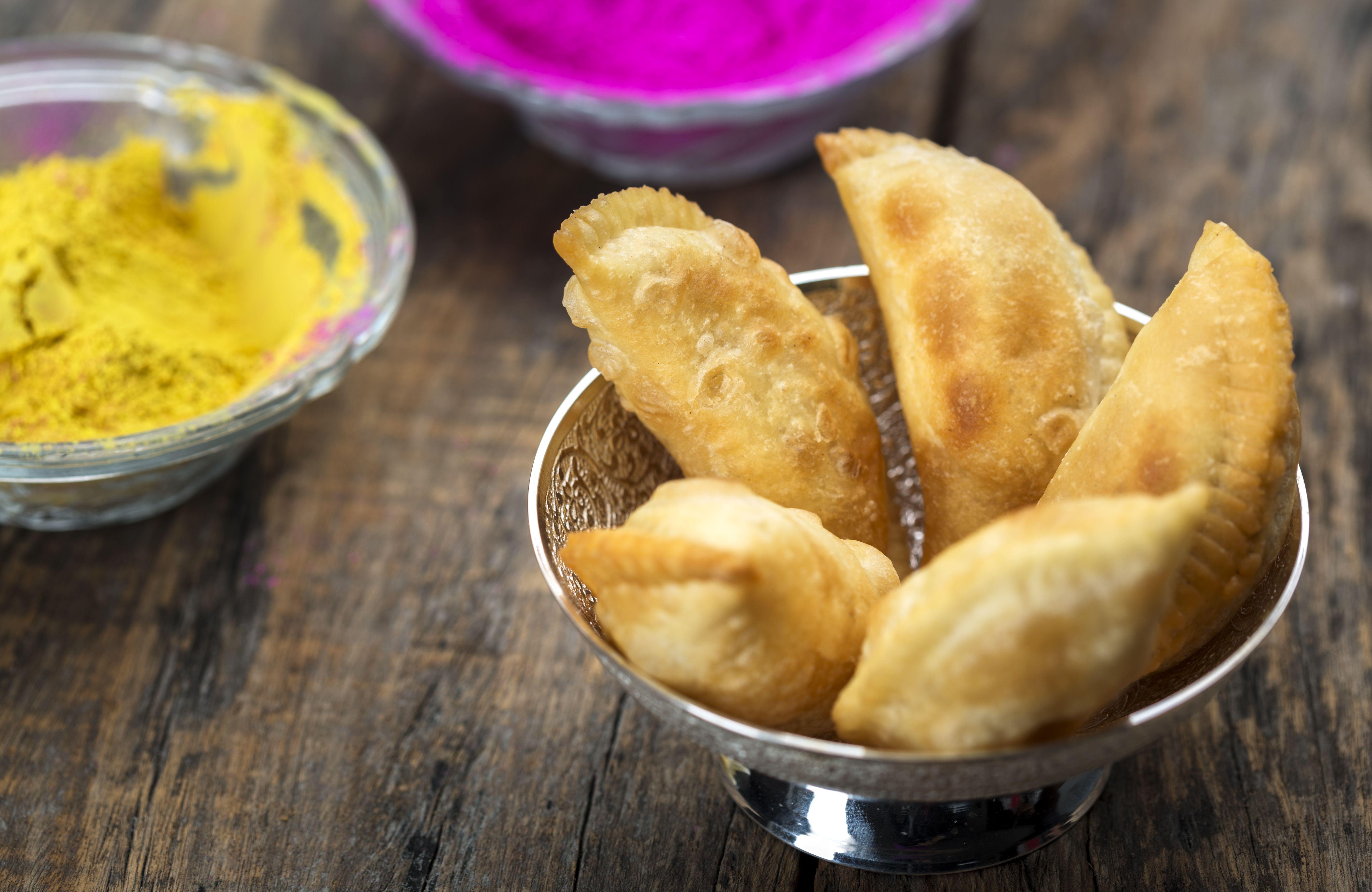 Gujia or Gujiya - an indian holi special snacks