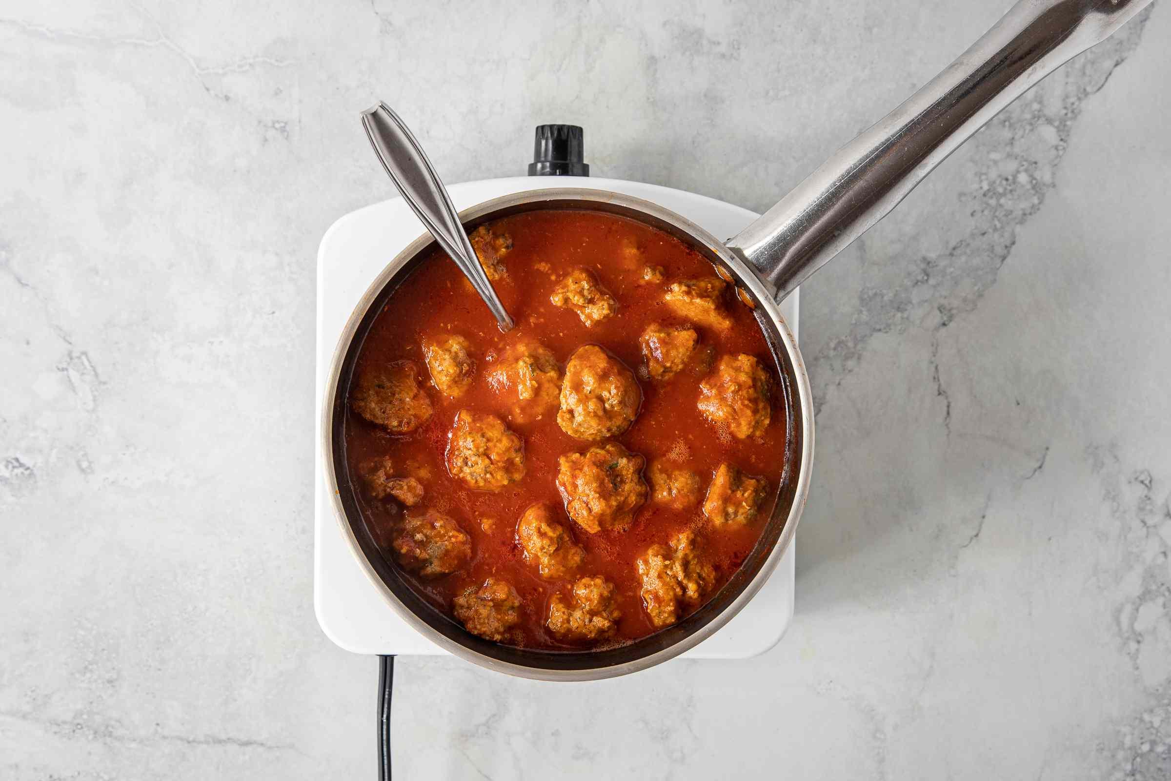 Easy Lamb Meatballs in a pot