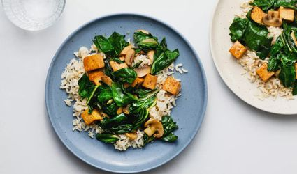 Swiss Chard and Tofu Stir-Fry