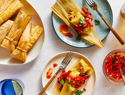 Corn, Green Chile, and Cheese Tamales