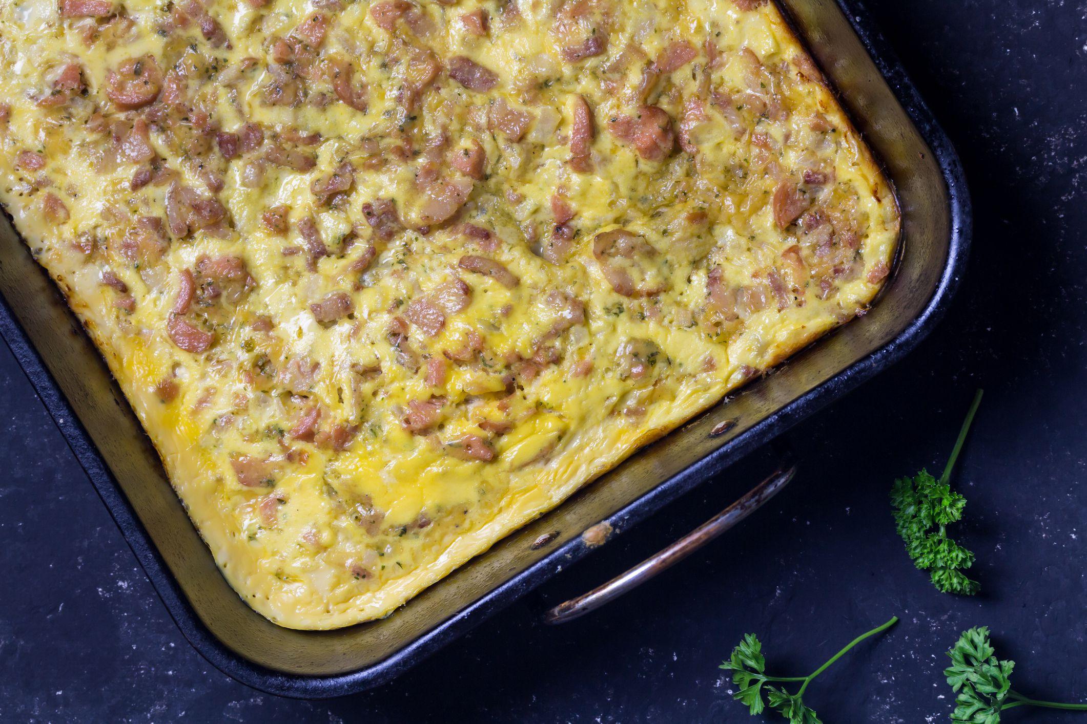 Mississippi Breakfast Casserole With Sausage Patties Recipe