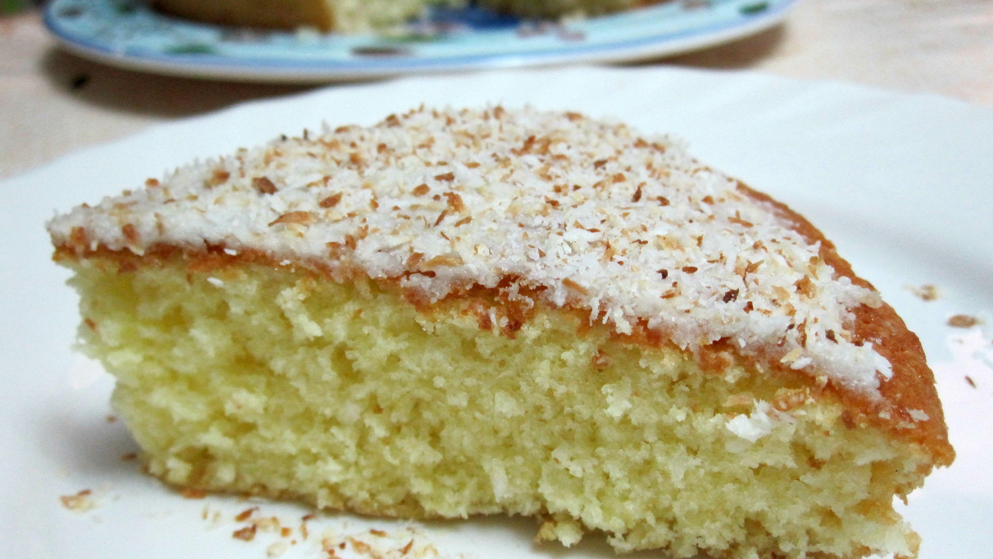 Easy Homemade Coconut Lemon Cake