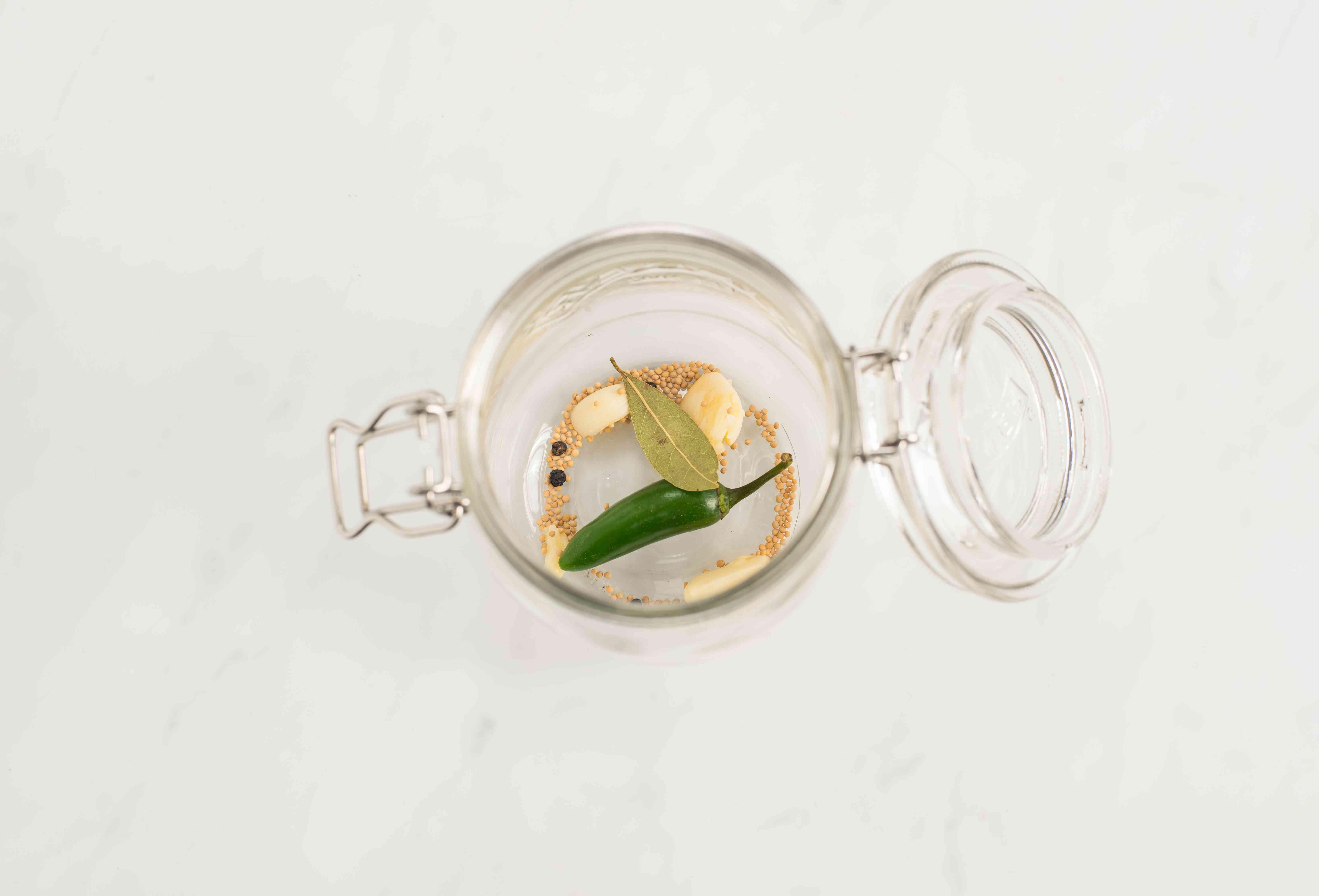 Put spices in jar
