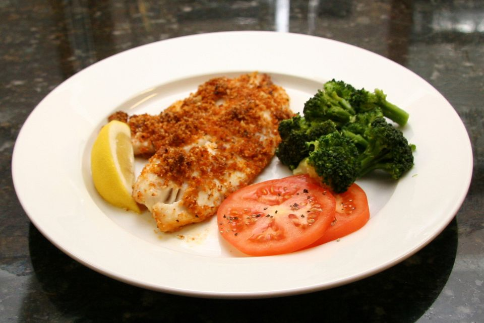 Baked Tilapia With Cajun Crumb Topping