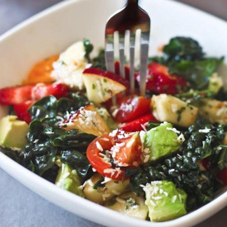 Kale and fruit salad