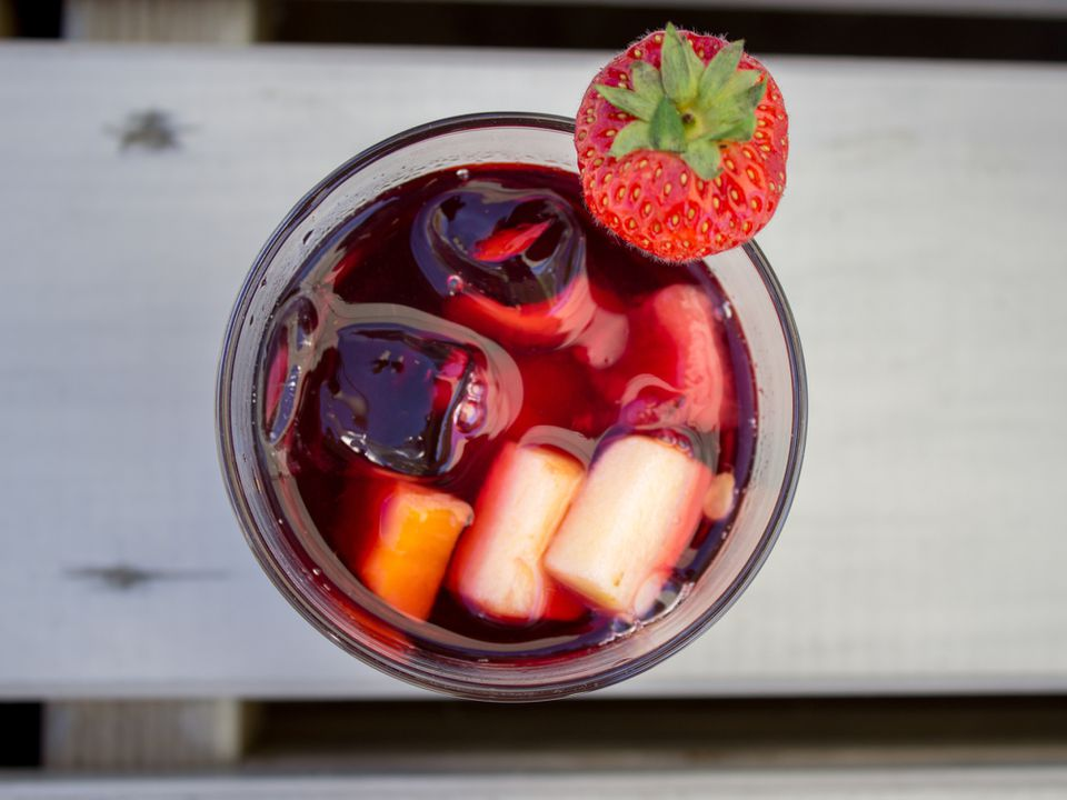 Sangria In Glass On Table