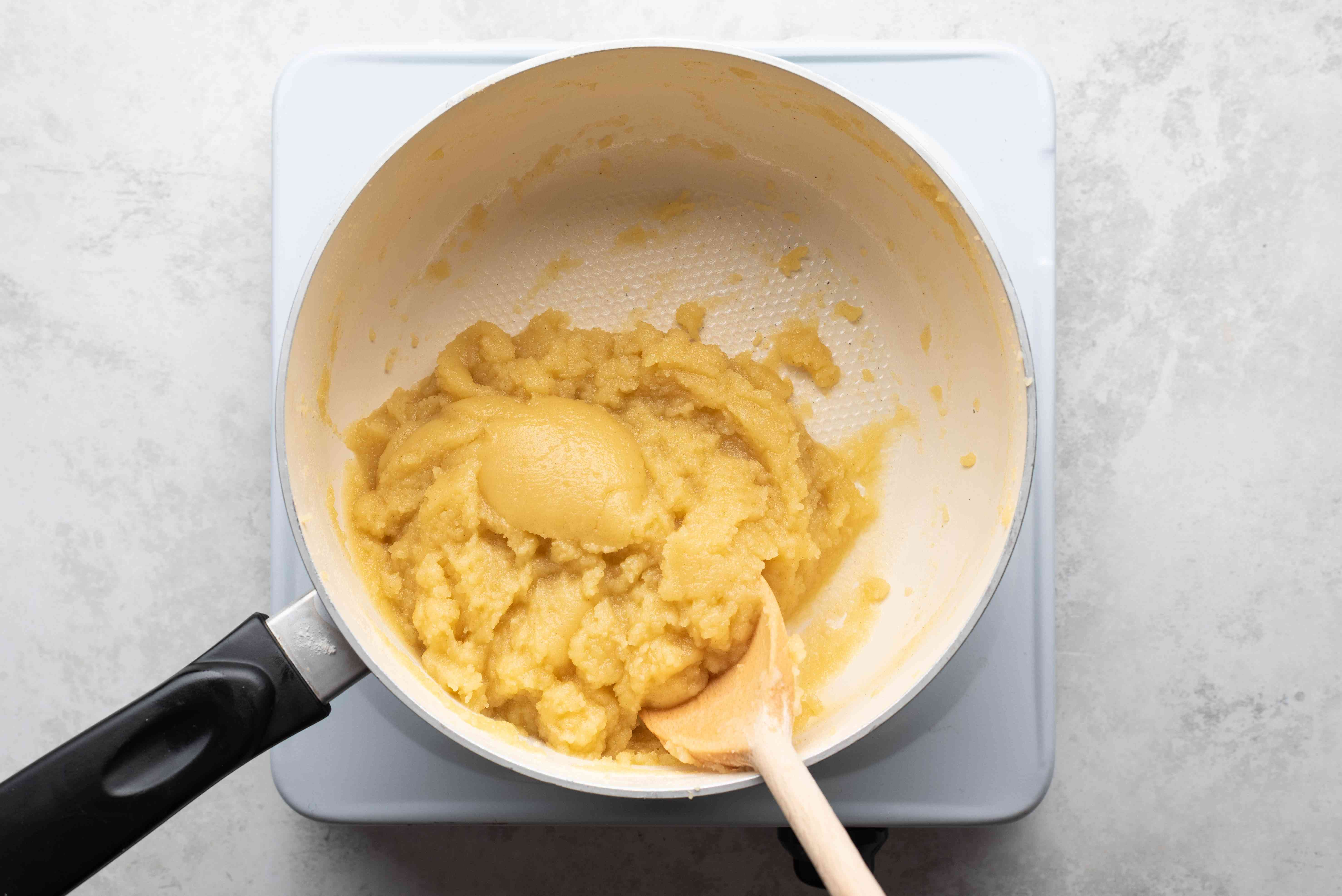 dough in a pan