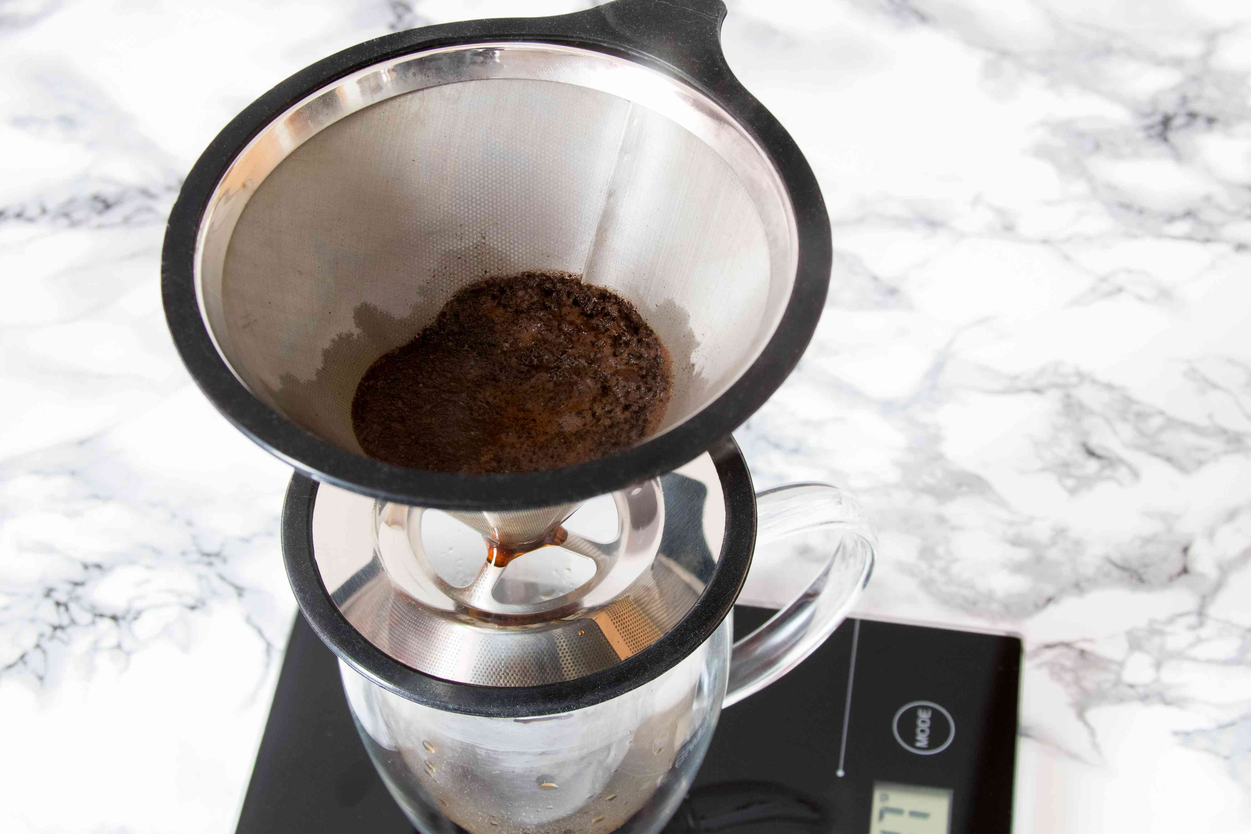 Wetting Coffee Grounds for Pour-Over Coffee