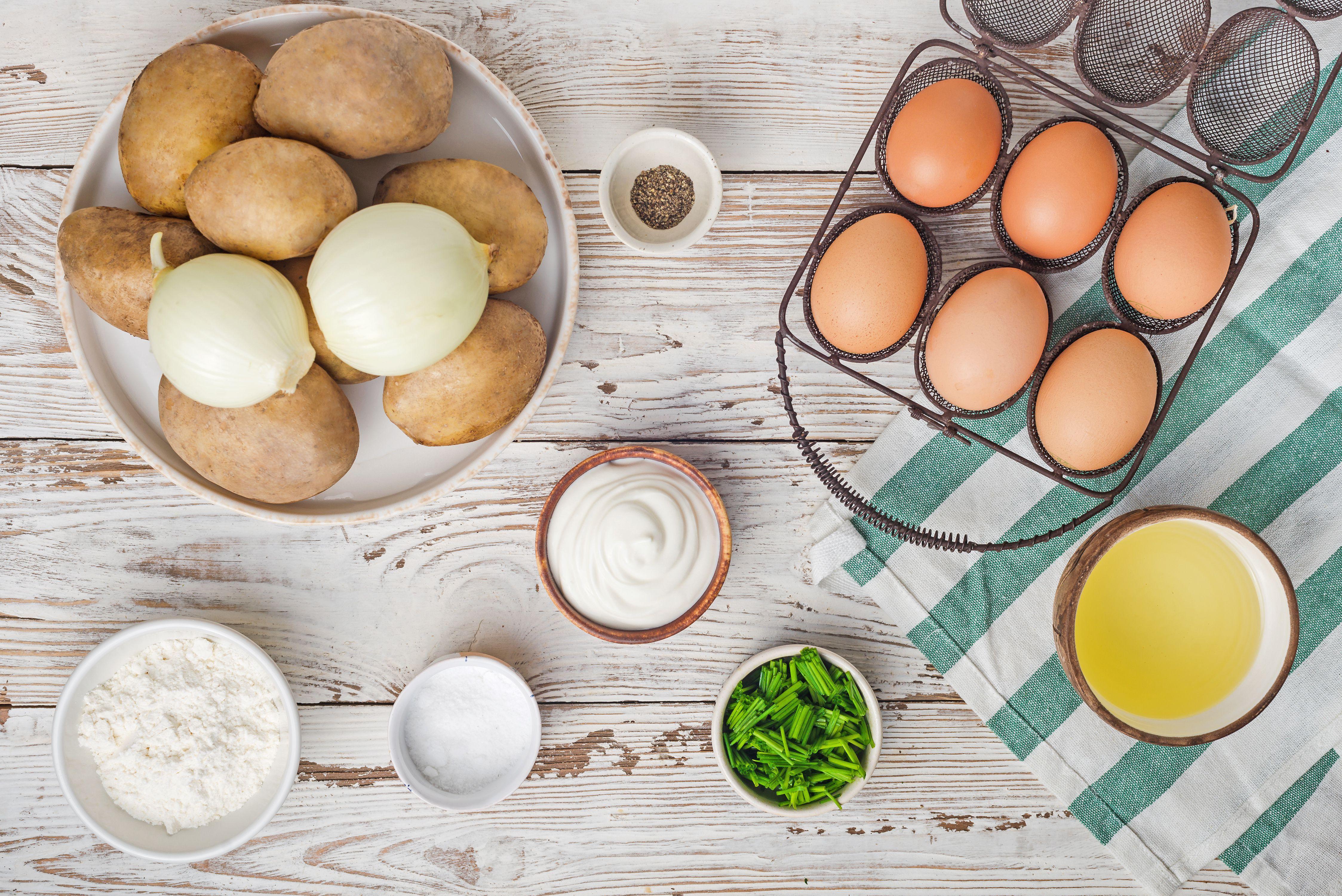 Ingredients for potato kugel